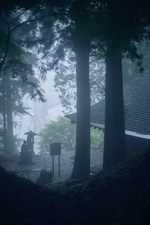【日光 千住観音堂】雨の日の散歩